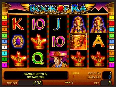 Символы игрового автомата Book of Ra