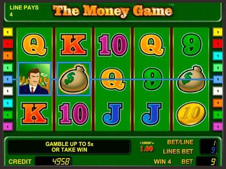 Выигрыш по линии в слоте The Money Game